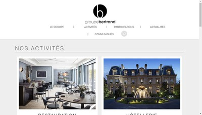 Site internet de Groupe Bertrand