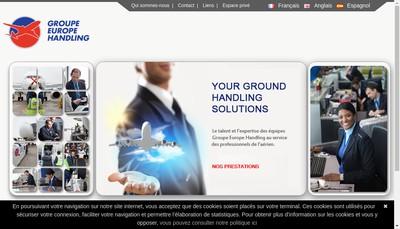 Site internet de Groupe Europe Handling SA