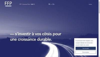 Site internet de Peugeot Invest