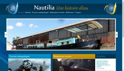 Site internet de Nautilia Travaux Subaquatiques