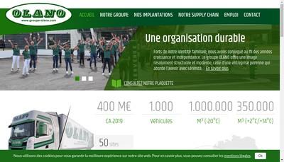 Site internet de Olano Organisation Transport