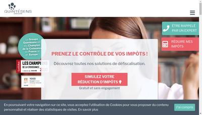 Site internet de Groupe Quintesens Cote d'Azur