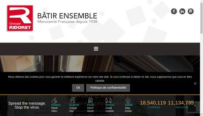 Site internet de Menuiseries Niortaises