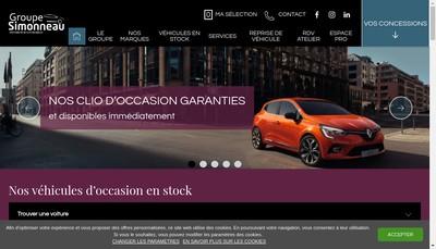 Site internet de Simonneau Automobiles