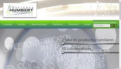 Site internet de Enseignes Humbert