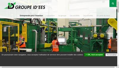 Site internet de Id'Ees Interim D