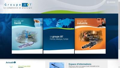 Site internet de Groupe Jbt