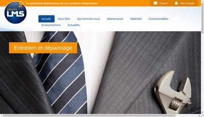 Site internet de Groupe Lms