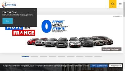 Site internet de Mary Automobiles Caen
