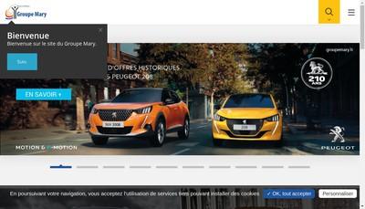 Site internet de Mary Automobiles Lisieux