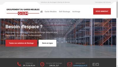 Site internet de Le Groupement du Garde-Meubles