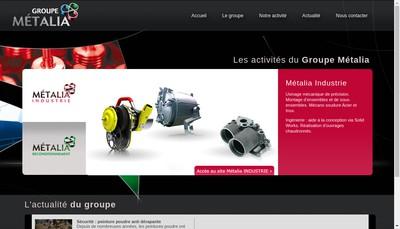 Site internet de Groupe Metalia
