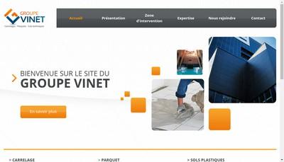 Site internet de Groupe Vinet