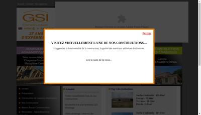 Site internet de Gsi Constructions Maisons Traditionnelles Sud Habitat
