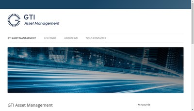 Site internet de Gti Asset Management