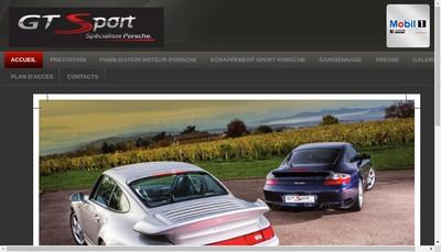 Site internet de GTSPORT Spécialiste PORSCHE