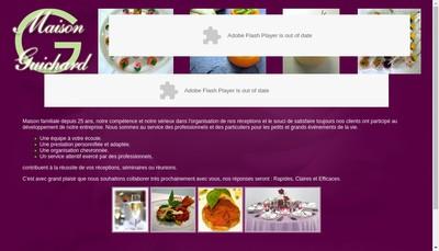 Site internet de Maison Guichard Traiteur