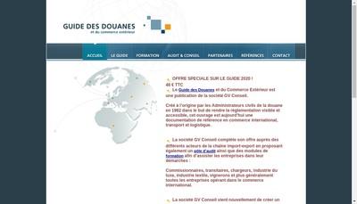 Site internet de Guide des Douanes &du Commerce Exterieur