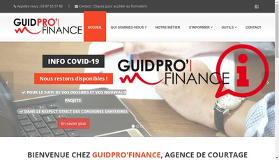 Site internet de Guidpro'Finance