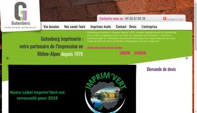 Site internet de Au Gutenberg