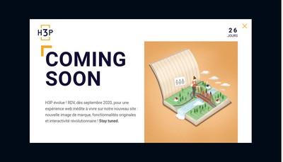 Site internet de H3P Financial Advisory