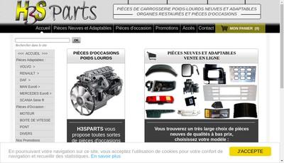 Site internet de H3S Parts