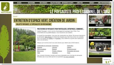 Site internet de Halatte Paysages
