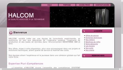 Site internet de Halcom