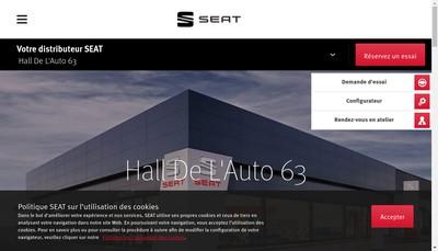 Site internet de Hall de l'Auto 63