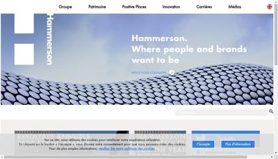 Site internet de Hammerson Property Management