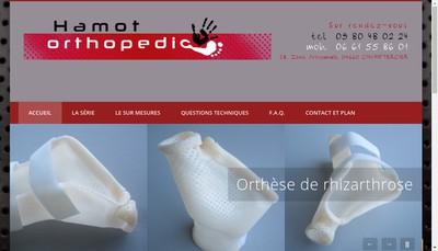 Site internet de Hamot Orthopedic