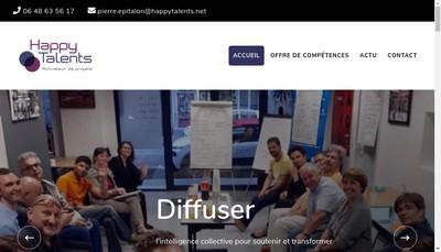 Site internet de Happy Talents