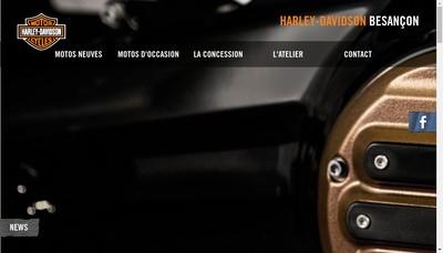 Site internet de SARL Harley Davidson Besancon