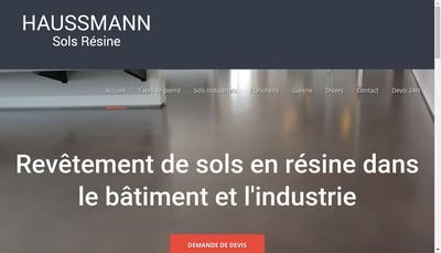 Site internet de Haussmann Sols Resine EURL