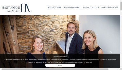 Site internet de Haut Anjou Avocats