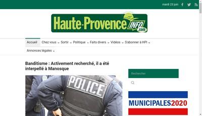 Site internet de Haute Provence Info