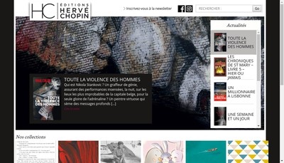 Site internet de Editions Herve Chopin