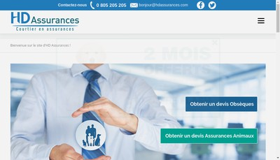 Site internet de Hd Assurances