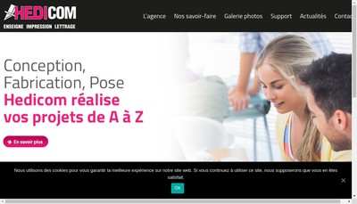 Site internet de Sign Up Communication
