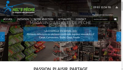 Site internet de Hel'S Peche