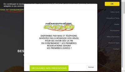 Site internet de Hemisphere Cycles