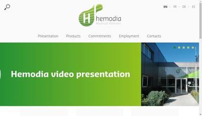 Site internet de Hemodia