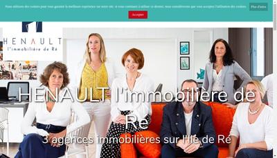 Site internet de Henault Immobilier
