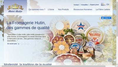 Site internet de Fromageries Henri Hutin
