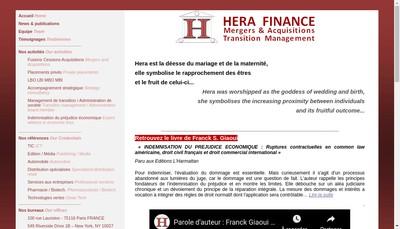 Site internet de Hera Finance