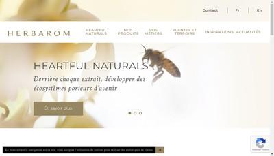 Site internet de Herbarom Laboratoire