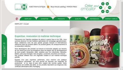 Site internet de Herplast
