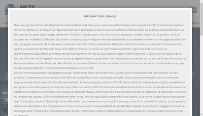 Site internet de Hets Capital SAS