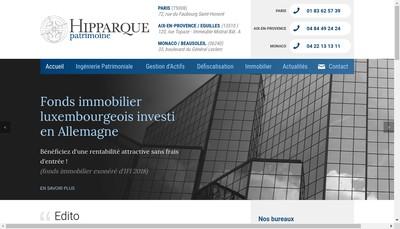Site internet de Hipparque Patrimoine