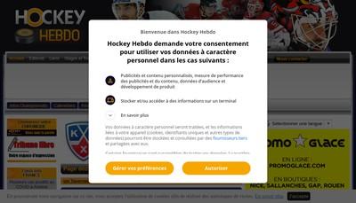 Site internet de Hockey Hebdo